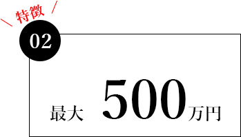 最大 500万円